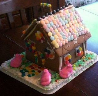 Easter Gingerbread House 2008